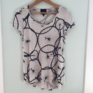 Anthropologie {W5} Bicycle Patterned T-Shirt